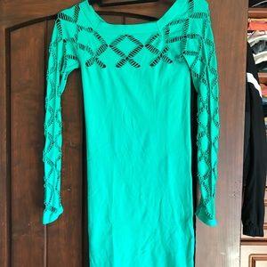 Green bodycon bebe dress